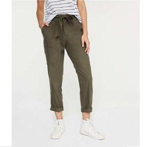Lou & Grey Softstretch Linen Blend Olive Pants